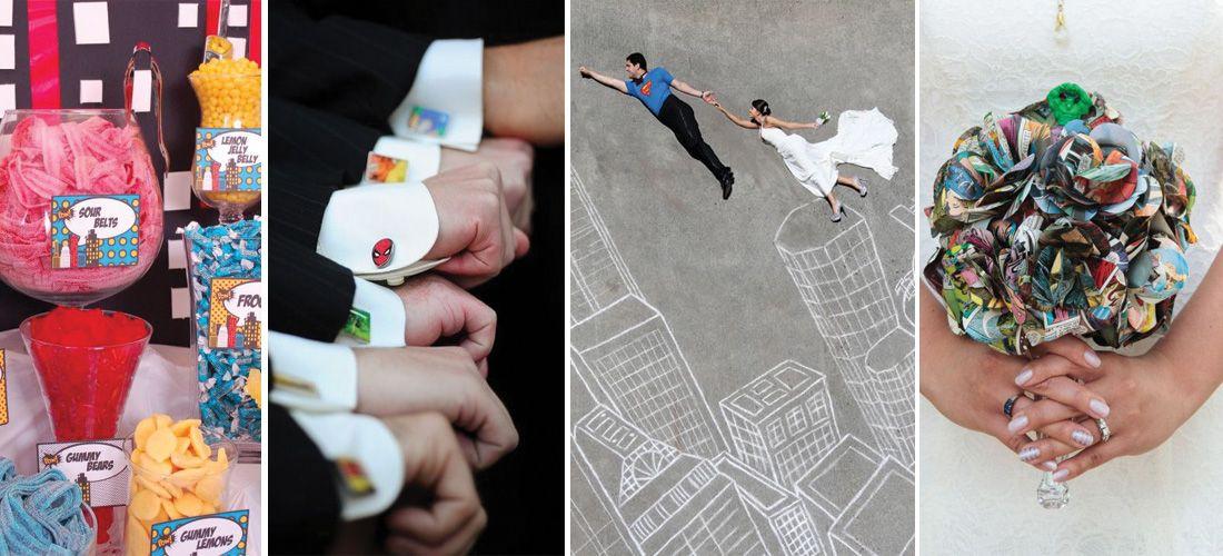 Boda temática: Ideas increíbles para una boda de súper heroes
