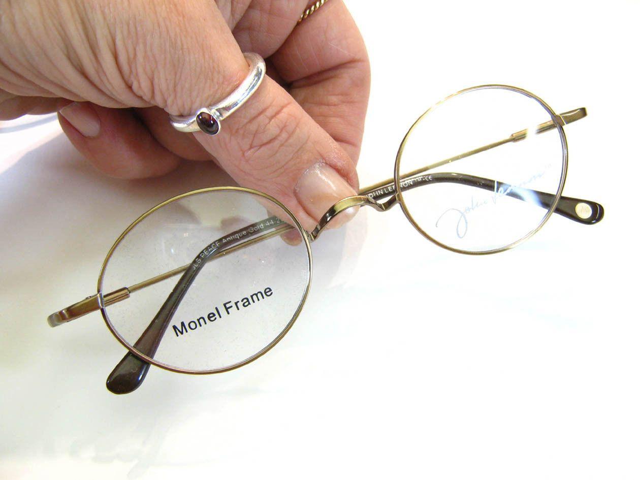 PEACE John Lennon Eyewear Round Metal Eyeglass Frames Eyeglasses ...