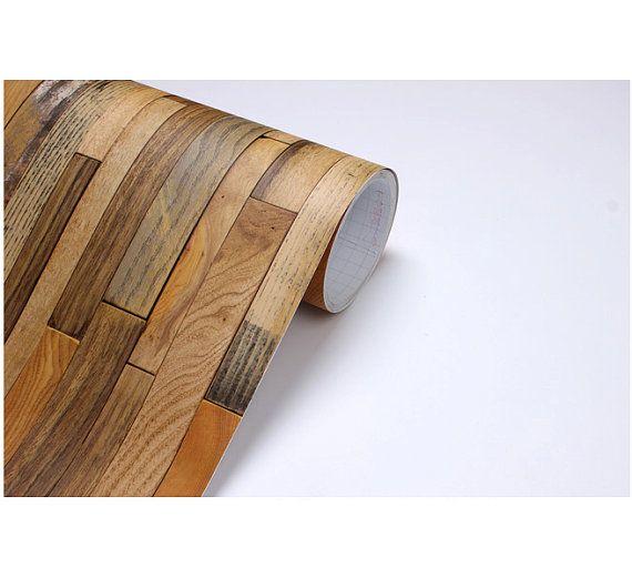 Wood Panel Vinyl Self Adhesive Peelstick By Verryberrysticker 3 99 Wood Wood Paneling Vintage Wood