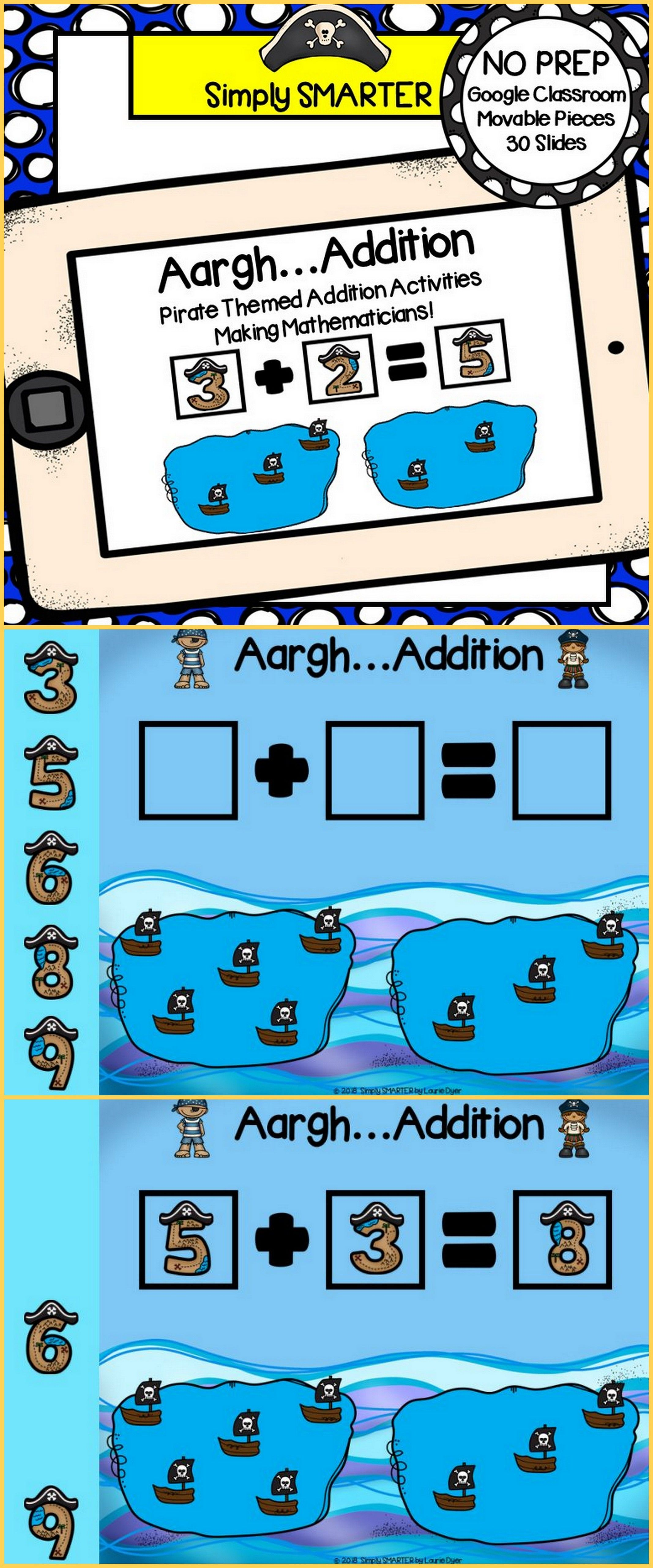 Pirate Themed Addition Activities For Classroom
