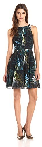 Ted Baker Women's Ameda Twilight Floral Printed Pleat Dress