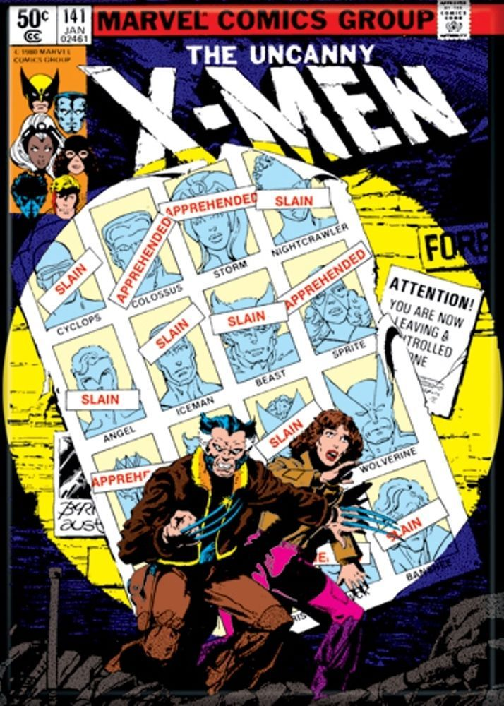 X Men 141 Days Of Future Past Wolverine Kitty Pryde Comic Book Cover Magnet Marvel Comic Books Comic Book Covers Classic Comics