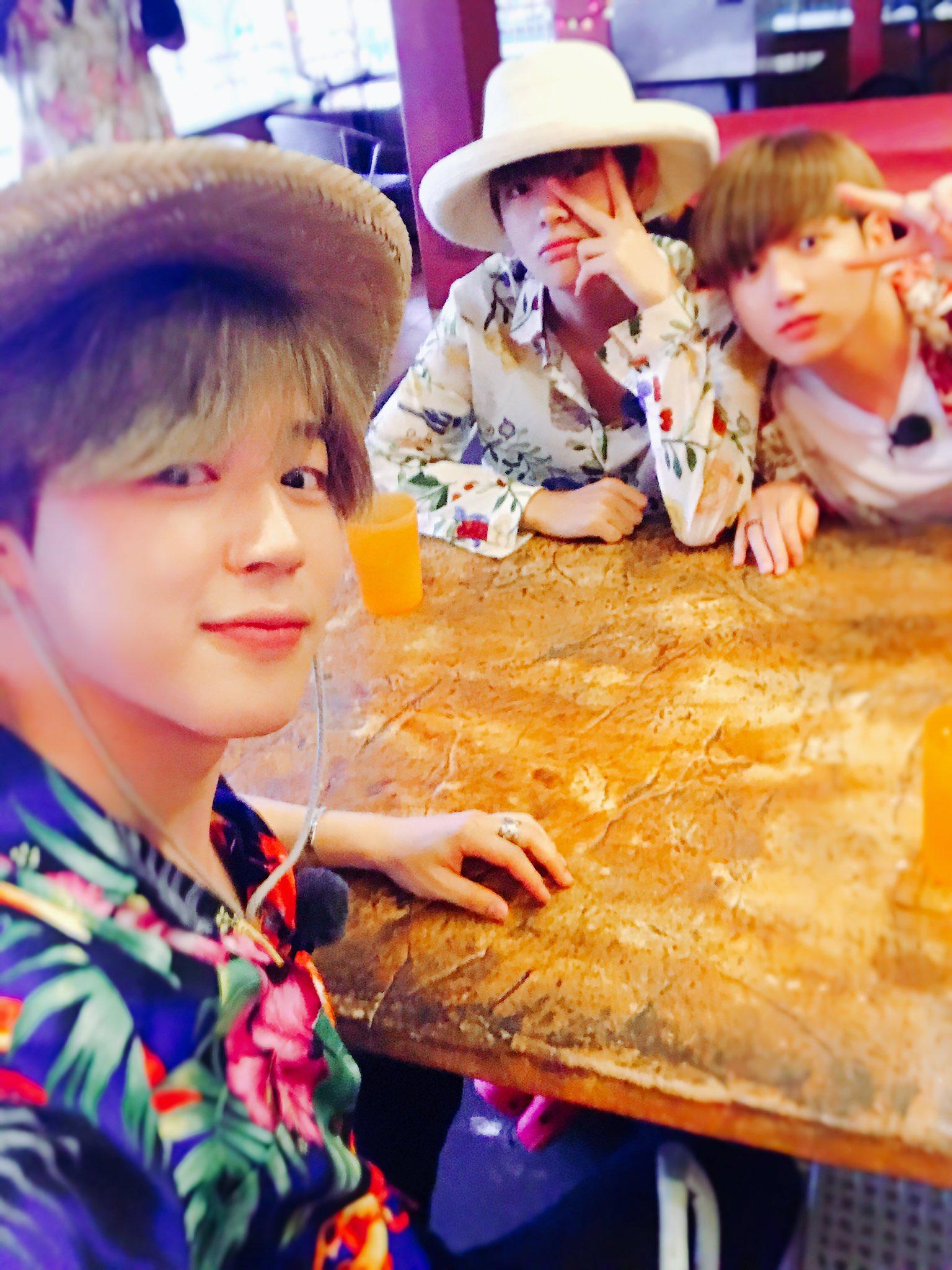 Jimin, Taehyung And Jungkook Twitter