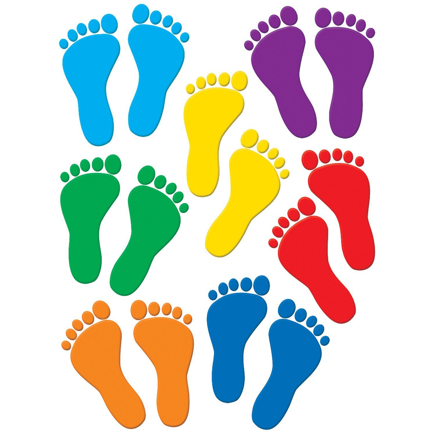 Teacher Created Resources Footprint Accents Teacher Created Resources Classroom Decorations Footprint