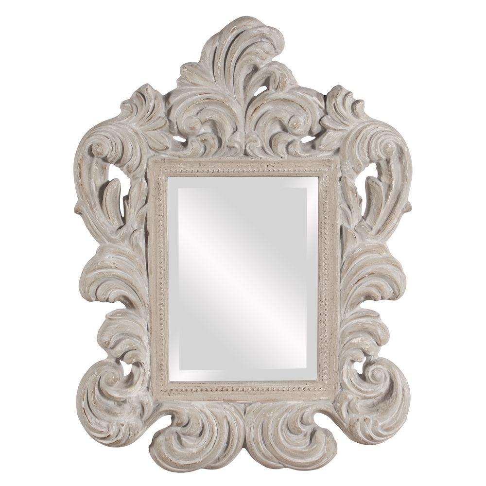 Lucille Antique Gray Mirror Howard Elliott Mirror
