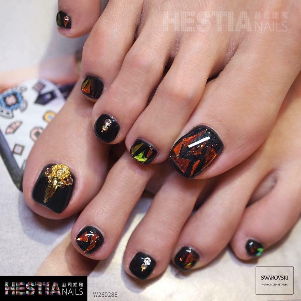 Pin de Navi Ngân en Nail chân | Pinterest | Diseños de uñas ...