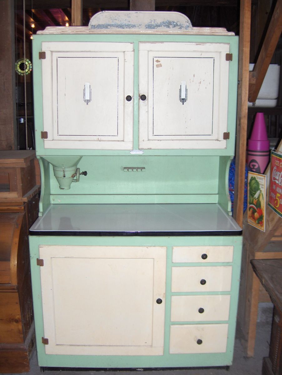 RARE Antique Vintage Hoosier Kitchen Cabinet Cupboard - RARE Antique Vintage Hoosier Kitchen Cabinet Cupboard Watch Out