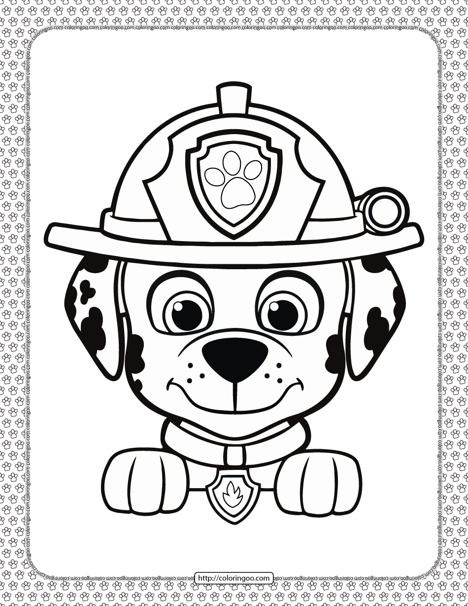 12+ Paw patrol happy birthday coloring page HD