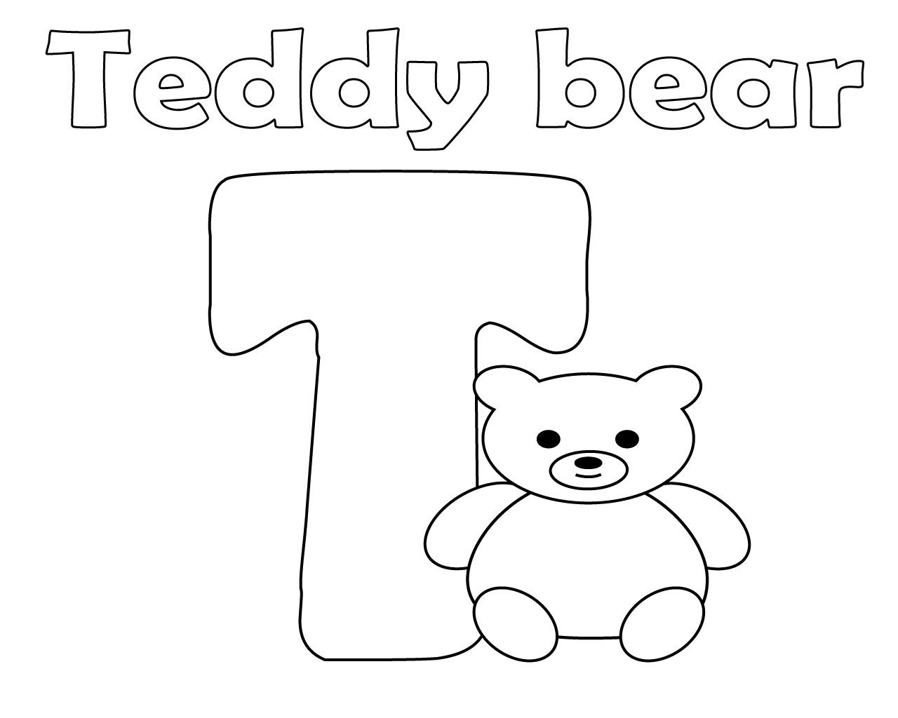 Best And Easy Letter T Coloring Page For Kids