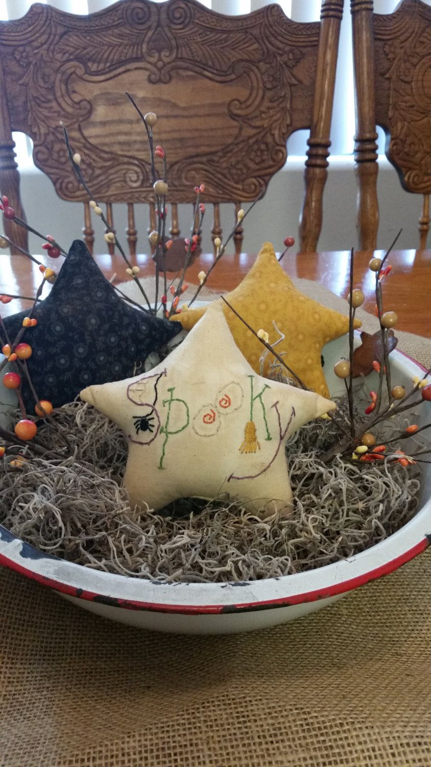 Halloween stars fall stars ornies bowl fillers fall decor Halloween - Primitive Halloween Decor