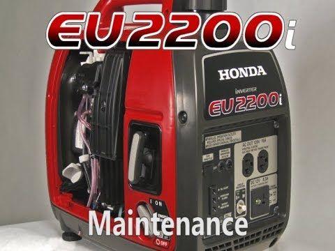 Honda EU2200i Generator Maintenance - YouTube