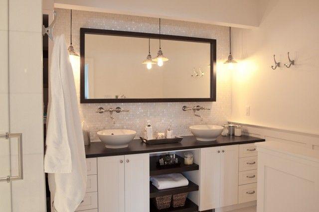 Elegant Master Bathroom With Chair Rail Amp Wainscoting