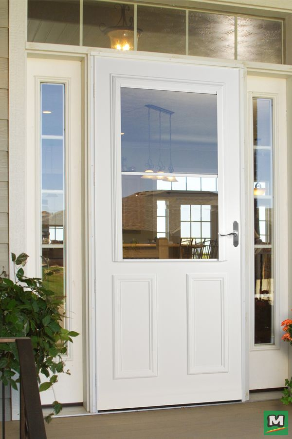 Enjoy An Unobstructed View Of Your Backyard With A Larson Timberline Screenaway Storm And Screen Door A Top P Windows Exterior Screen Door Weather Stripping