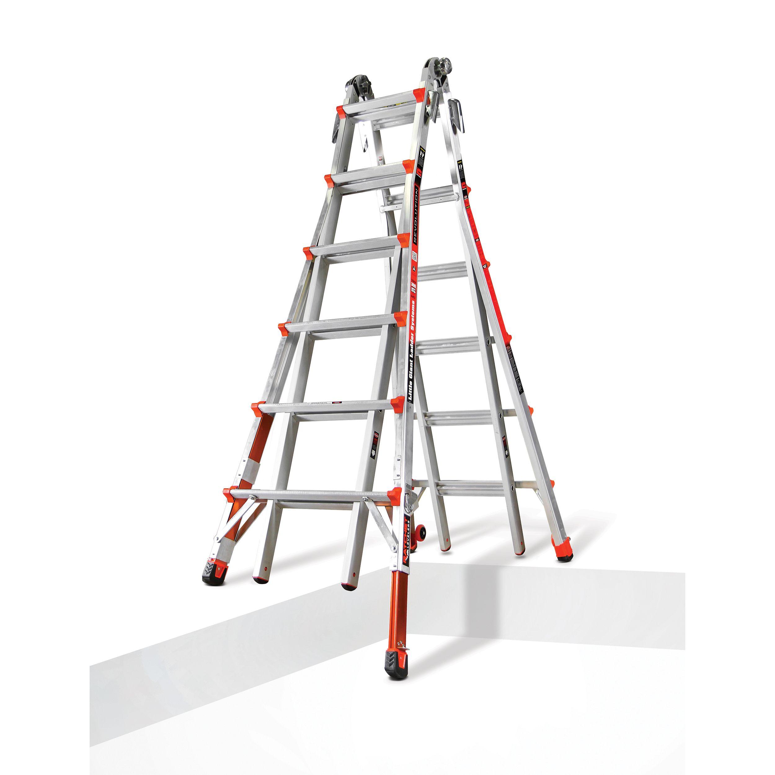 Little Giant Revolution Ladder 26 With Built In Ratchet Leveler