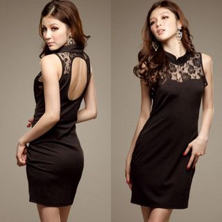 Lace Cut Out Back Dress - $20.23 on @ClozetteCo