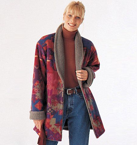 McCalls sewing pattern M9576:  A pretty generic looking, reversible coat.