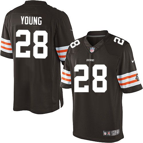 men nike cleveland browns 28 usama young limited brown team color nfl jersey sale