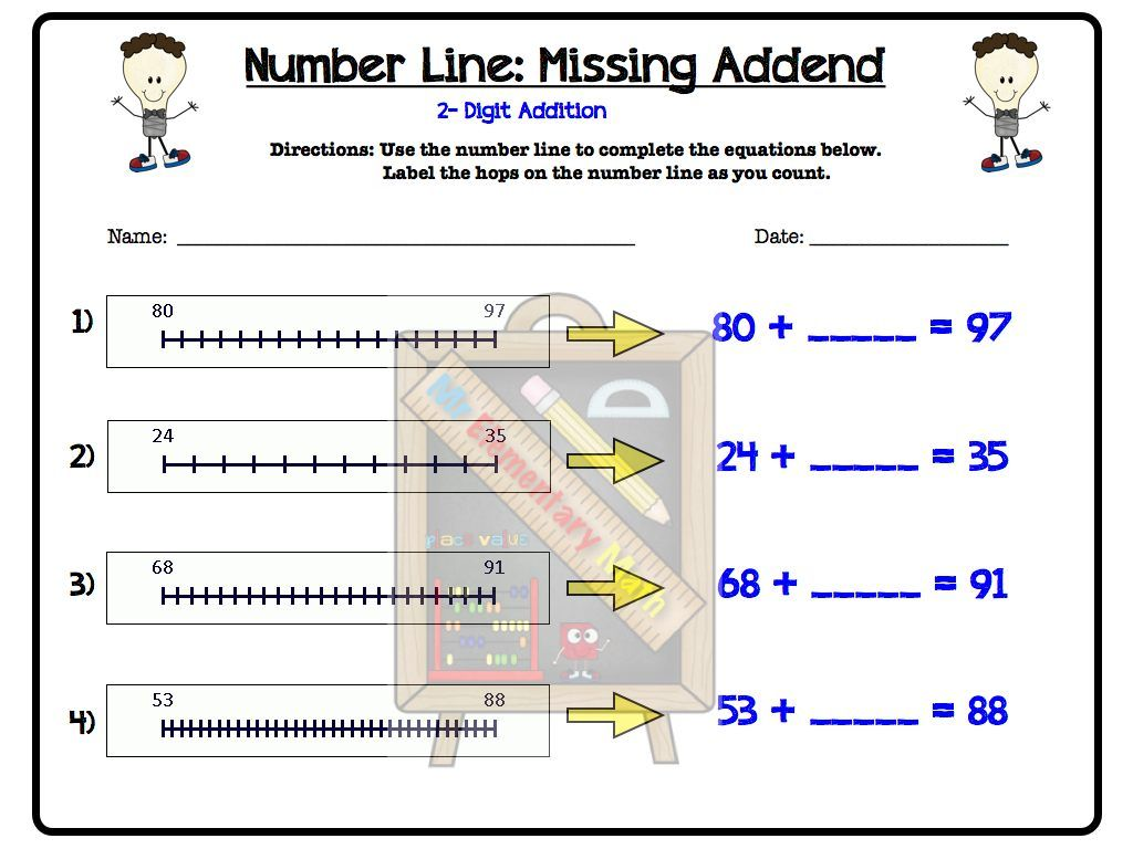 Use The Number Line To Help Your Students With Addition This Wonderful Number Line Pack Has Sev Number Line Number Line Activities Elementary Math Number line addition practice