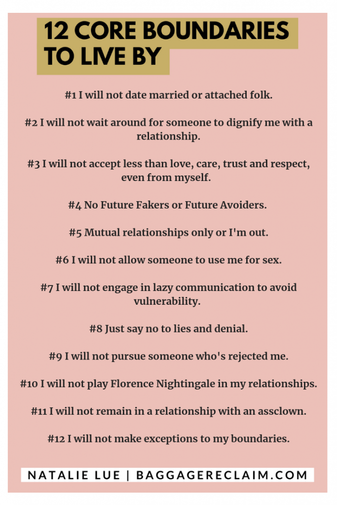 12 Core Boundaries To Live By in Life, Dating, & Relationships