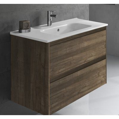 "Cheshunt Full Cabinet 36"" Single Bathroom Vanity Set en ..."