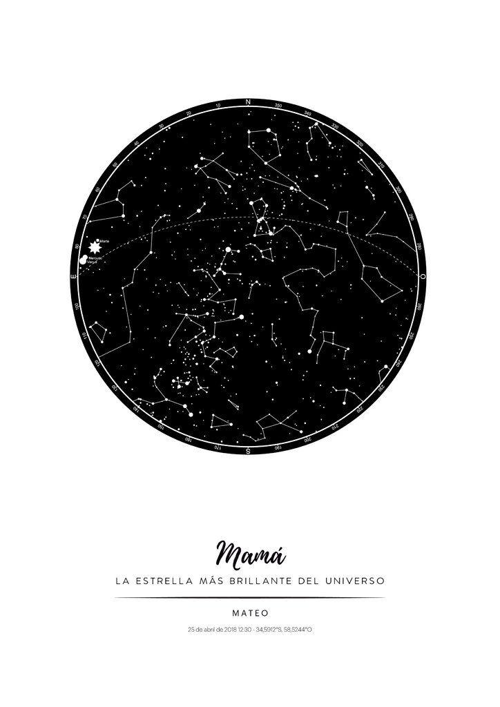 Mirá Nuestro Producto Si Te Gusta Podés Ayudarnos Pinéandolo En Alguno De Tus Tableros Mapa De Constelaciones Mapas Dia De Las Madres
