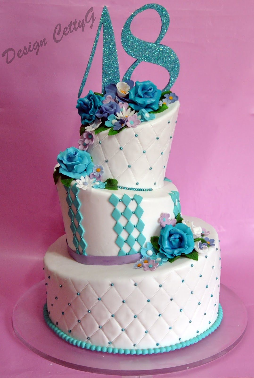 Favoloso Le torte decorate di Cetty G: Wonky cake 18 Anni | dolci  LW85