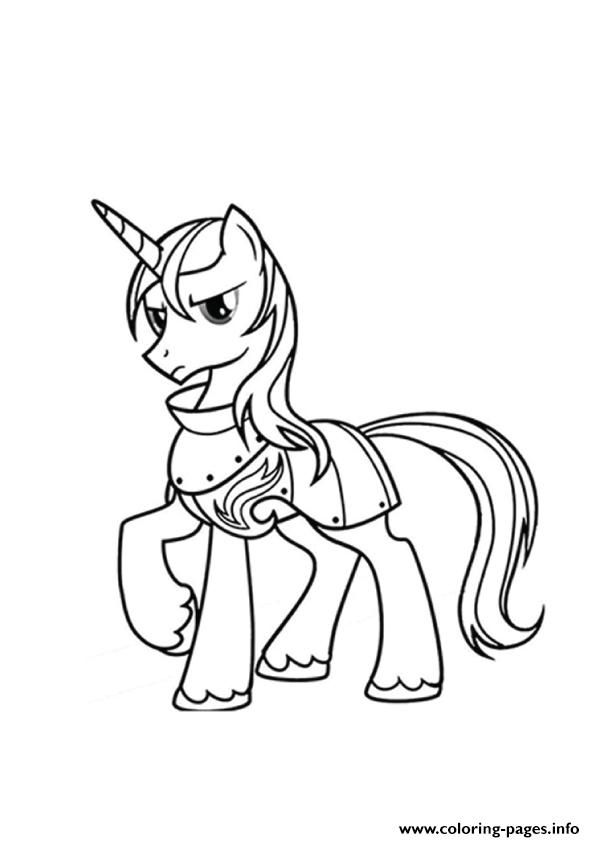 print a shining armor my little pony coloring pages