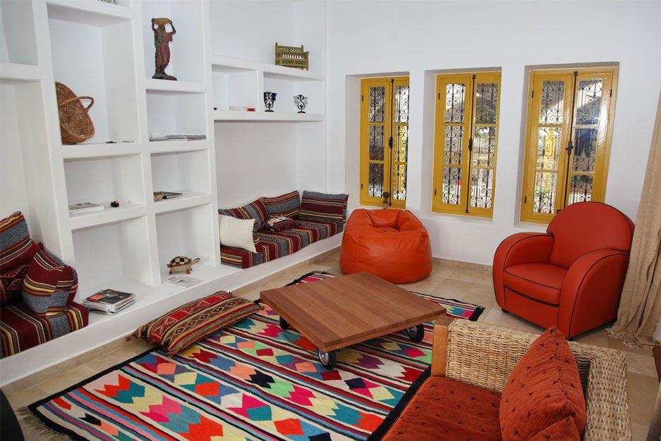 Dar Enesma Maison d\'hôtes en Tunisie - Intérieur salons | Tunisian ...