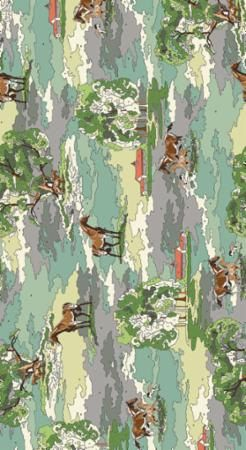 Furlong by Erin Michael for Moda Fabric - Horse Color by Number Fabric - Purebred - Forest - Horse Fabric Paint by Number Fabric by Owlanddrum on Etsy