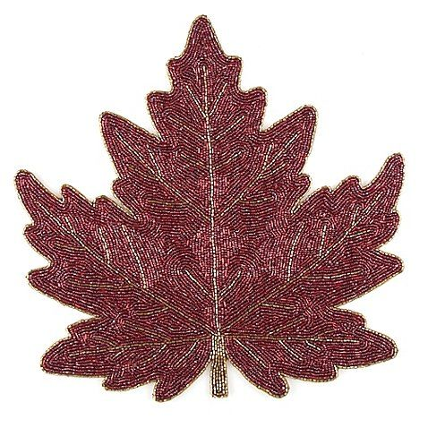 Create an autumn-themed aesthetic at your table with the Beaded Leaf ...