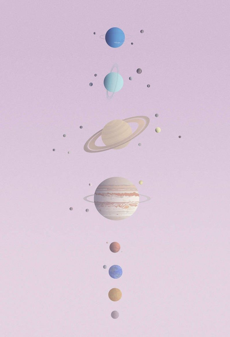Solar System - Poster (8x10, 11x17, or 13x19) Planets