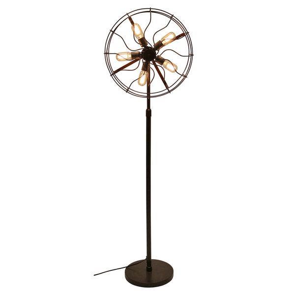Ozzy industrial vintage fan floor lamp overstock shopping floor lamps for less aloadofball Image collections