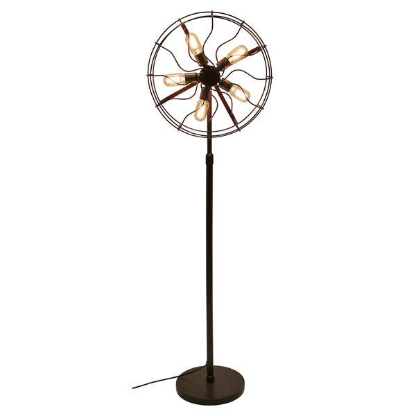 LumiSource Ozzy Industrial Vintage Fan Floor Lamp (Ozzy Floor Lamp ...