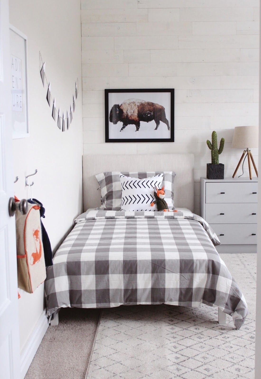 Modern Rustic Boys Bedroom One Room Challenge The Reveal Boys