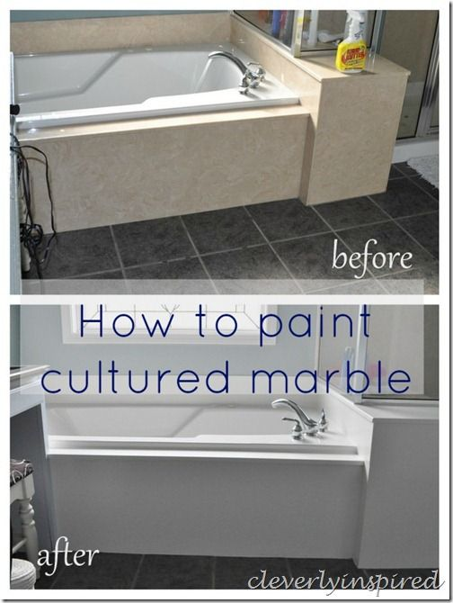 How To Paint Cultured Marble Tub Surround With Images Marble