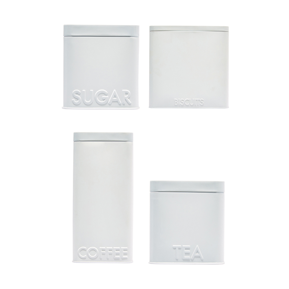 4 Pack Matte White Canisters Kmart Coffee canister