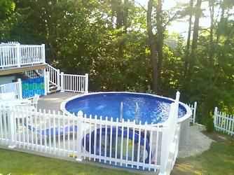 Nice little deck set up for Above ground pool setup ideas