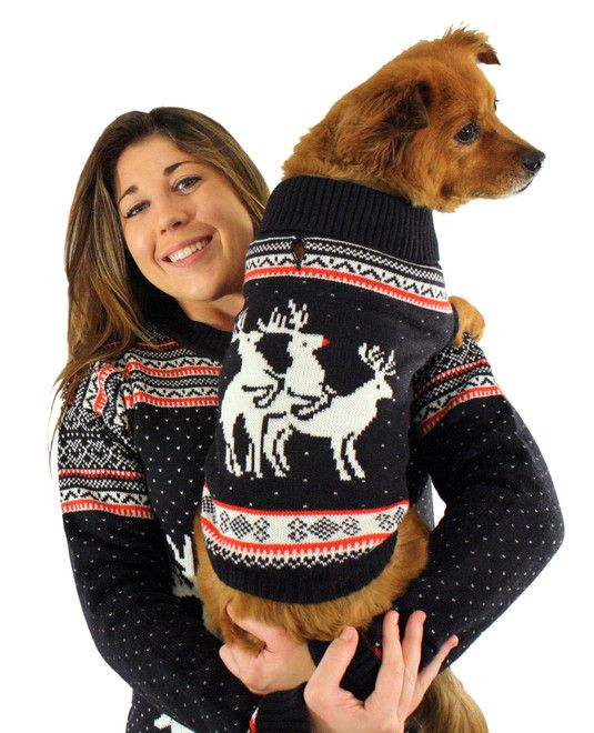 And Ofcouse Your Dog Shall Have A Matching Threesome Jumper Our