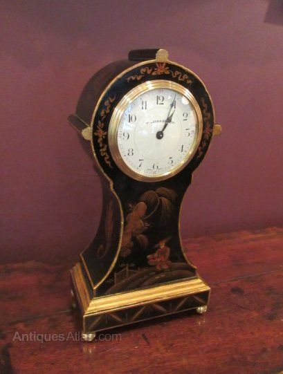Superior Edwardian Period Chinoserie Mantel Clock #edwardianperiod