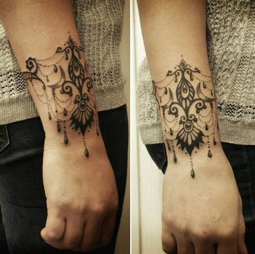 lace wrist tattoo designs tattoo on pinterest lock. Black Bedroom Furniture Sets. Home Design Ideas