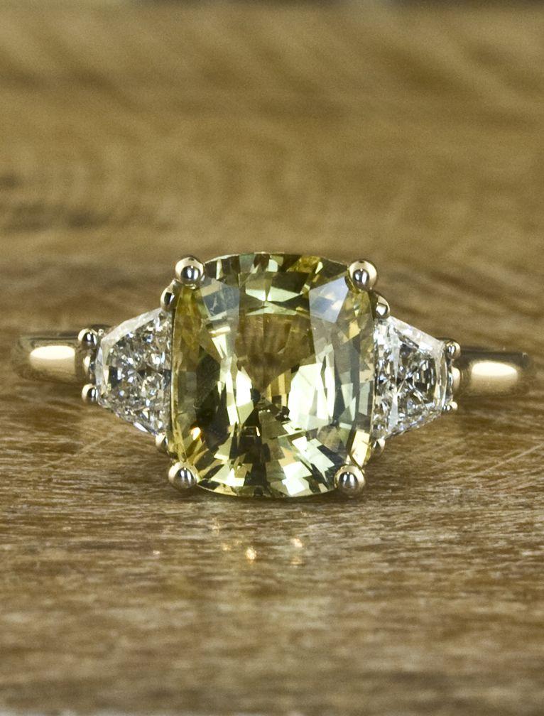 yellow sapphire engagement ring by ken dana design. Black Bedroom Furniture Sets. Home Design Ideas