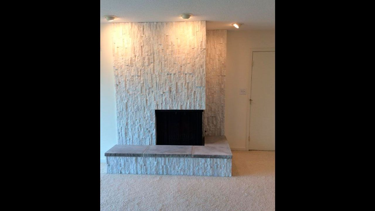 white birch ledgestone fireplace vertical fireplaces home decor rh pinterest com