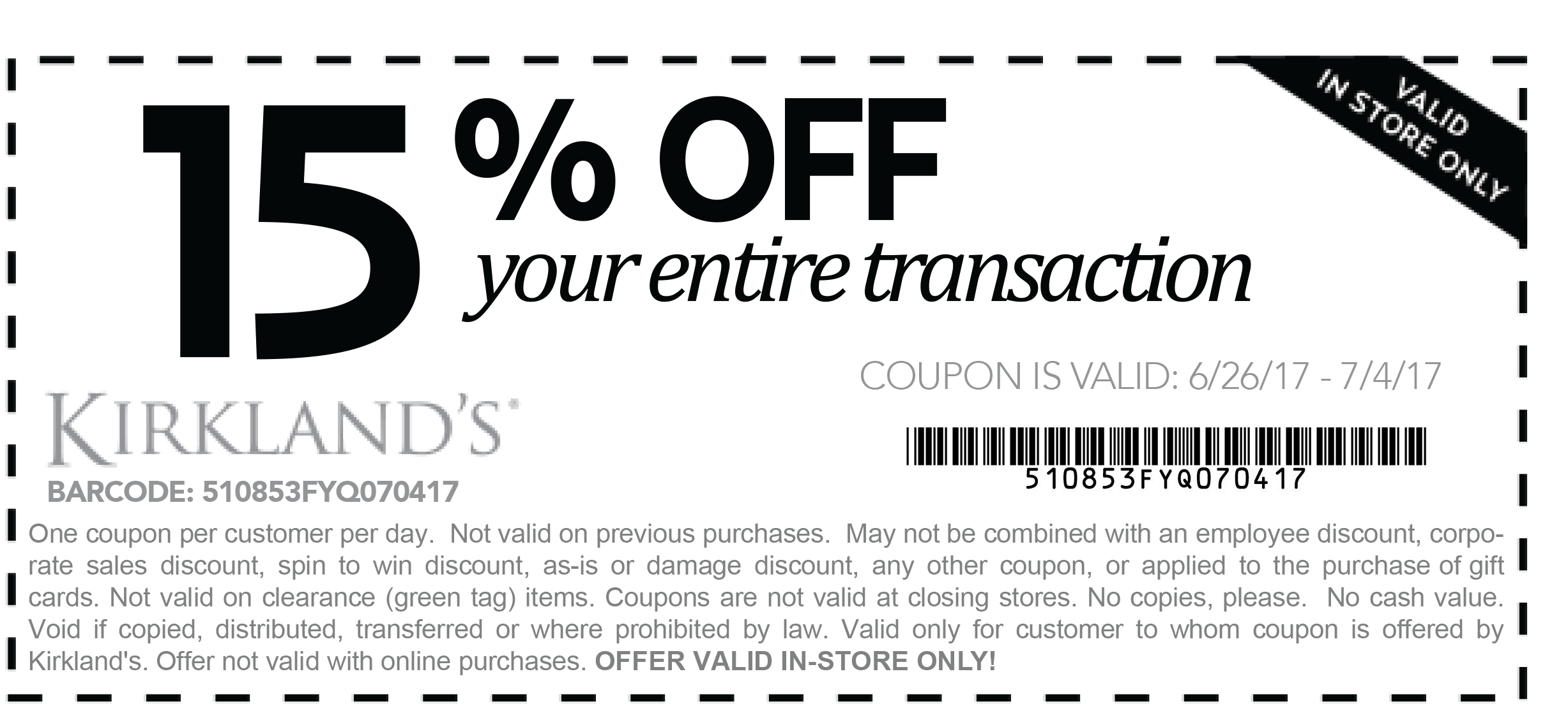 Active Kirkland's Discount Codes & Offers 12222