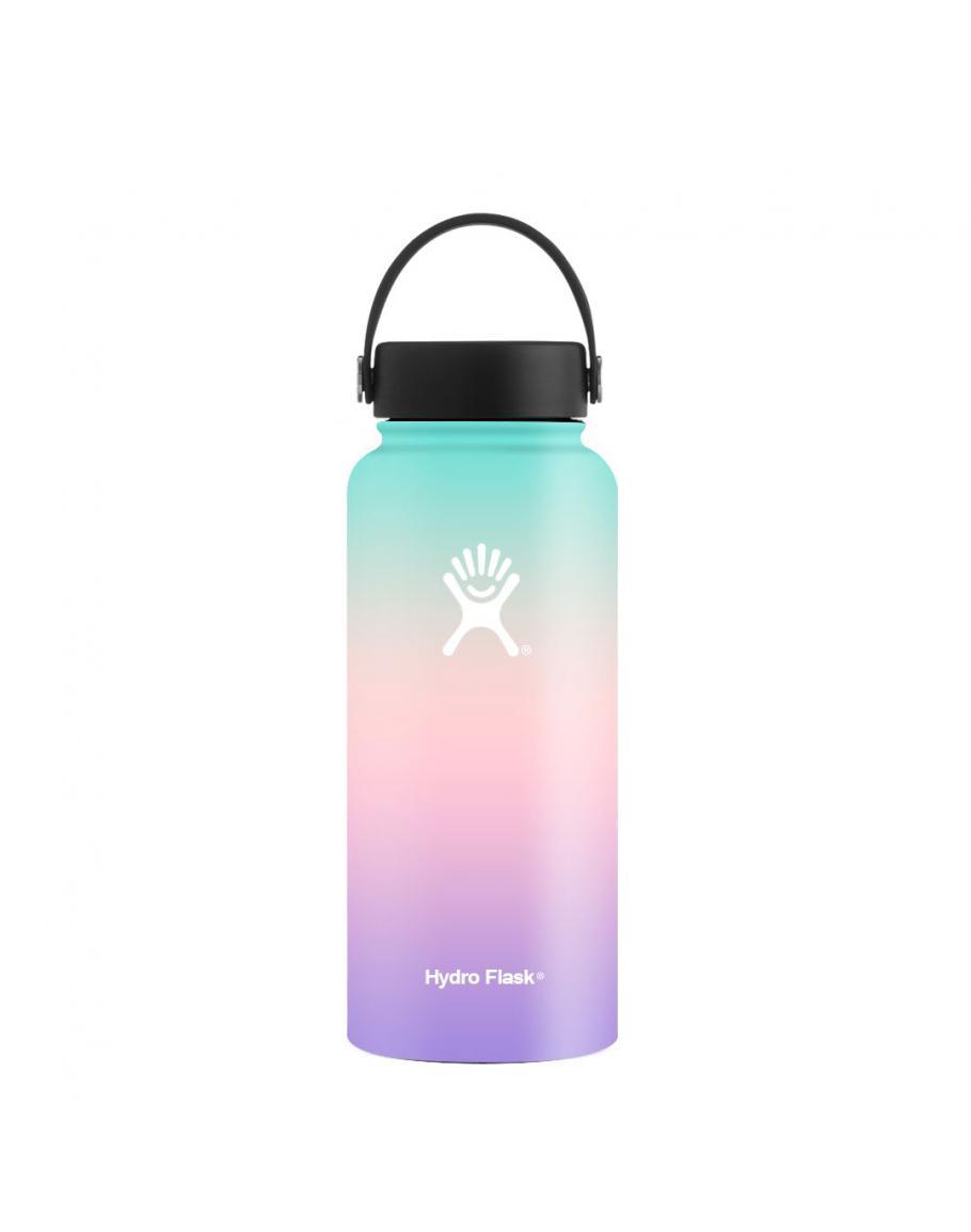 32 Oz Wide Mouth W Handle Lid Blue Pink Violet Hydro Flask Water Bottle Pink Hydro Flask Hydro Flask Colors