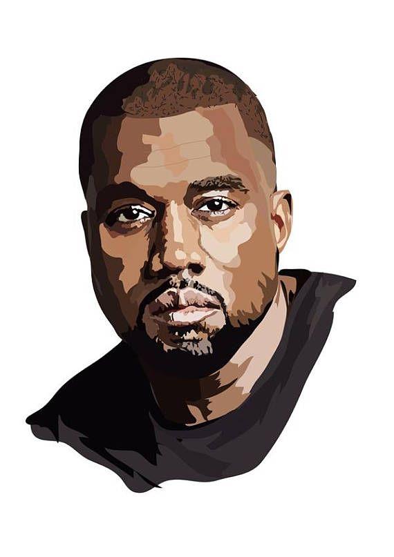 Kanye West Art Print West Art Rapper Art Kanye West Painting