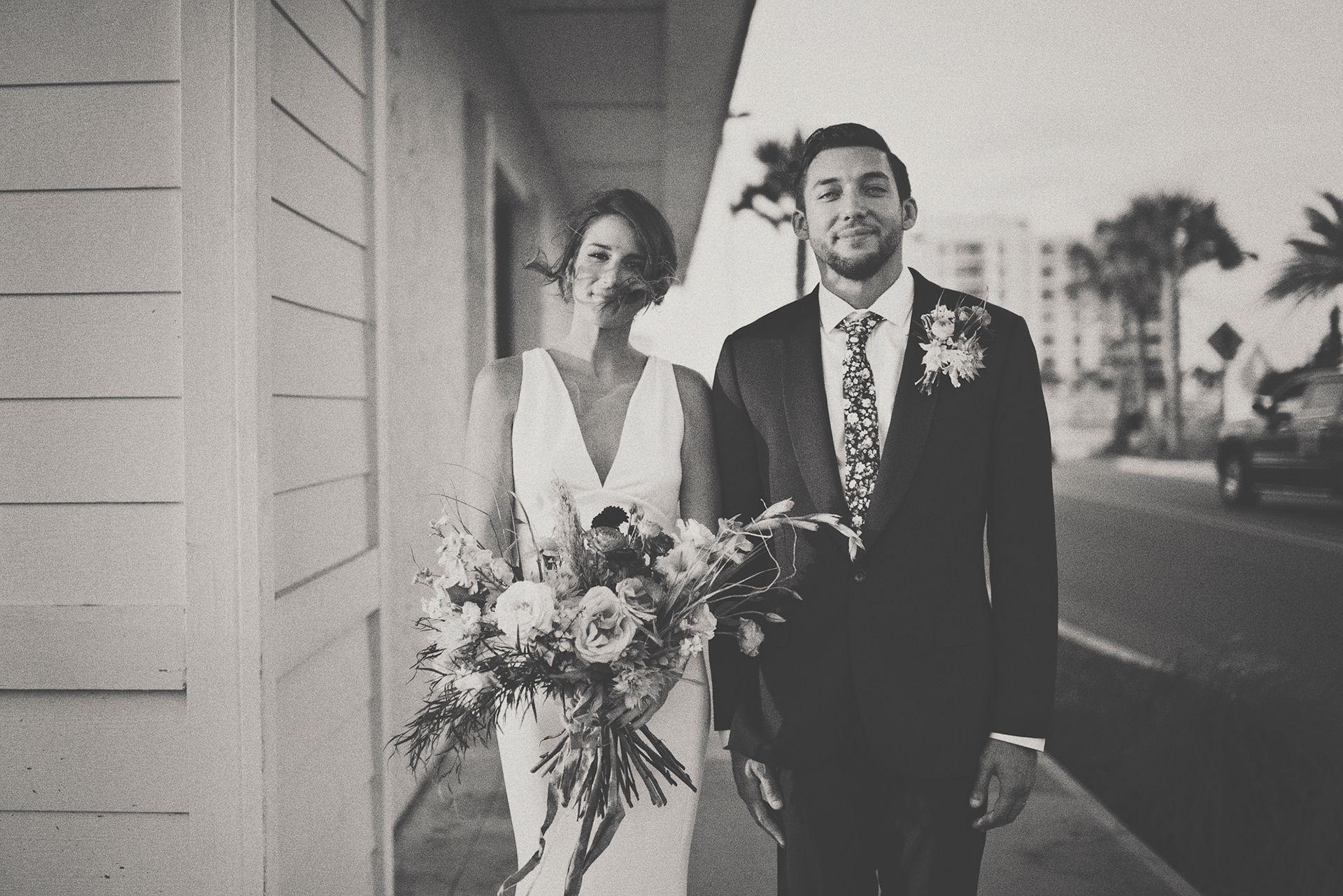 Jacksonville beach weddings  Bride u Groom Portrait   Christina Block Photography  THEM