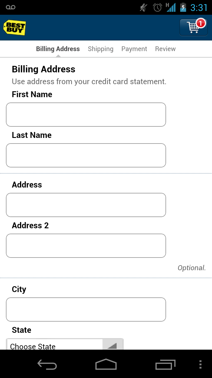Best Buy Android App (10)  Credit card statement, Cool things to