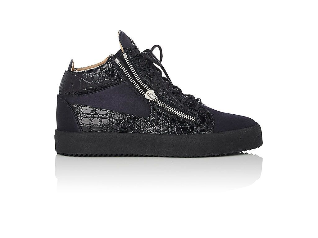 Mens Stamped Leather Double-Zip Sneakers Giuseppe Zanotti CljQblTtBP