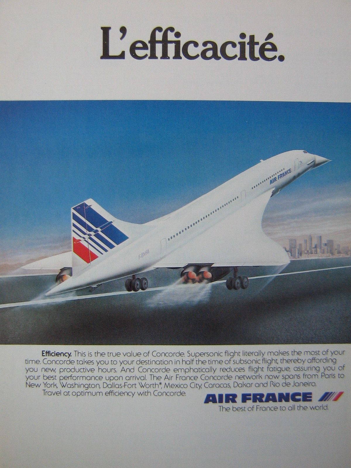 The Concorde could travel almost as fast as your dreams of