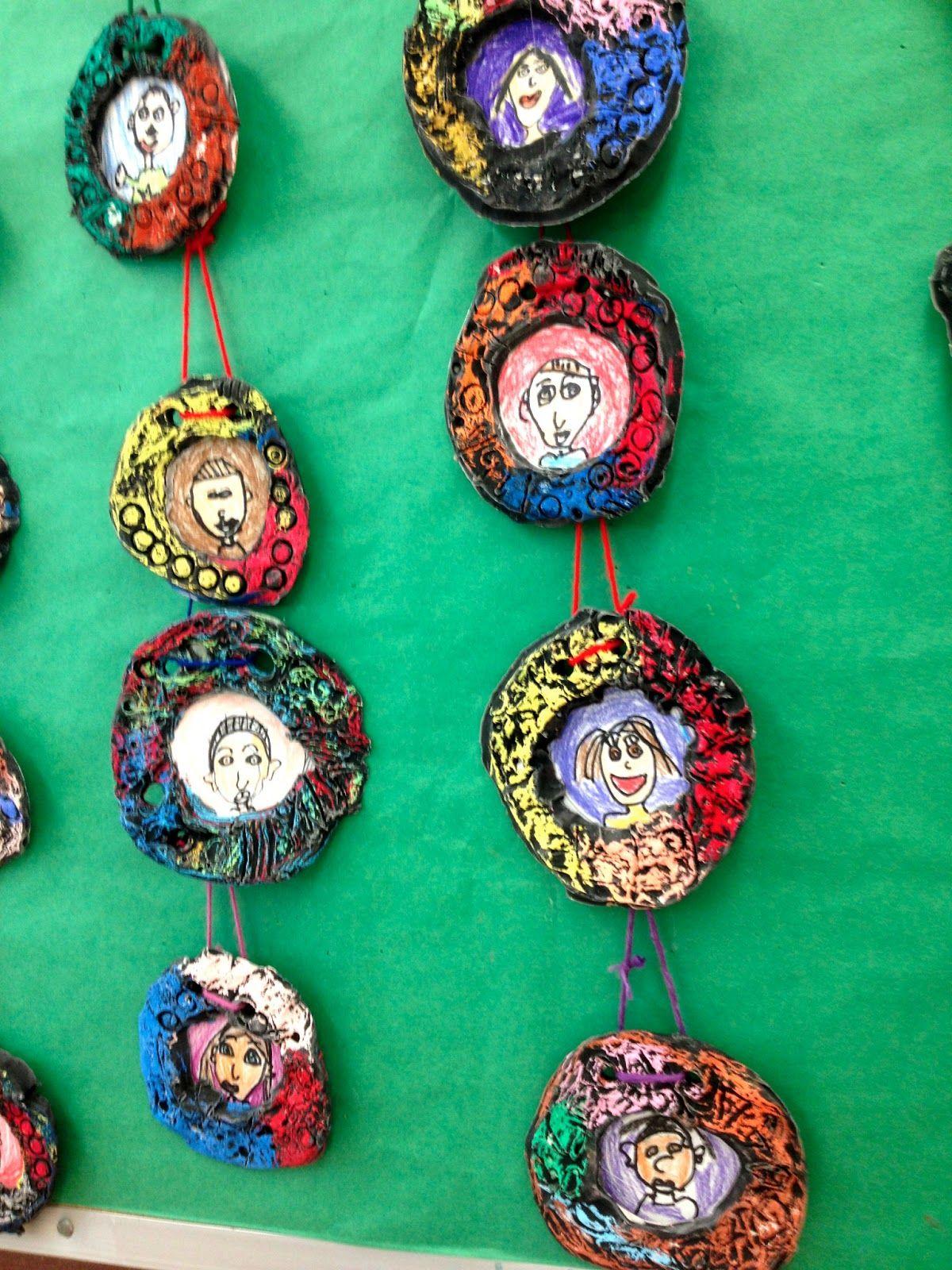 Art With Ms Silvey Kindergarten Self Portraits W Clay
